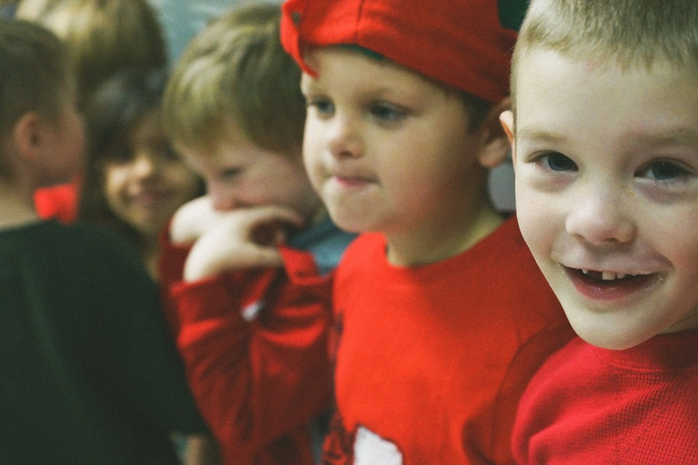 Kindergarten Sings Carols for High School